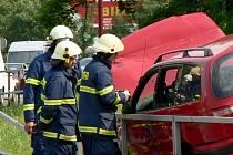 Nehoda u Finančního úřadu ve Svitavách.
