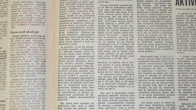 Nové Svitavsko z 22. listopadu 1989.