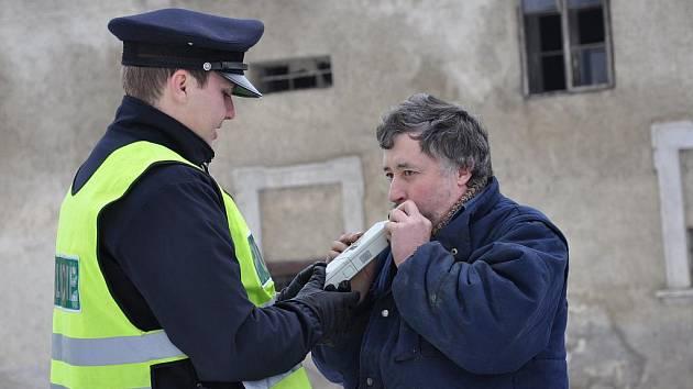 Policejní akce na Moravskotřebovsku.