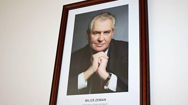 Portrét Miloše Zemana.