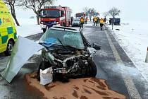 Hromadná nehoda mezi Litomyšlí a Poličkou.