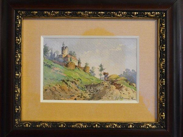 Malba svyobrazením hradu Svojanov.