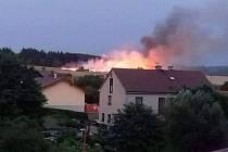 Požár v Němčicích