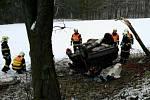 Tragická havárie osobního automobilu v Březové nad Svitavou.