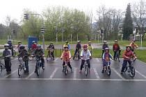 Školáci se učili dopravní výchovu.