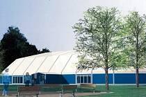 SPORTOVNÍ HALA u Svitavského stadionu potřebuje zrekonstruovat. Radní připravili projekt na její modernizaci a požádali o dotaci. Vizualizace.