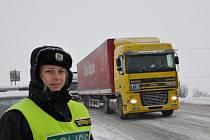 Sníh způsobil komplikace u Hřebečského tunelu.