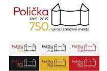 Vítězné logo pro oslavy 750. výročí Poličky vytvořila Kateřina Švecová z Dolního Újezdu.