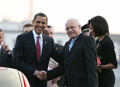 Návštěva amerického prezidenta Baracka Obamy v Praze.