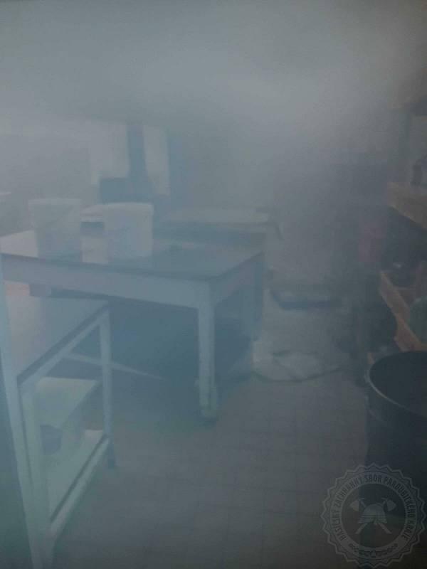 Jídelnu ve Vendolí zničil požár.