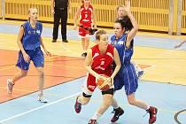 Radost pohledět byla na výkon litomyšlských hráček v souboji s USK Praha. Předvedly řadu povedených akcí.