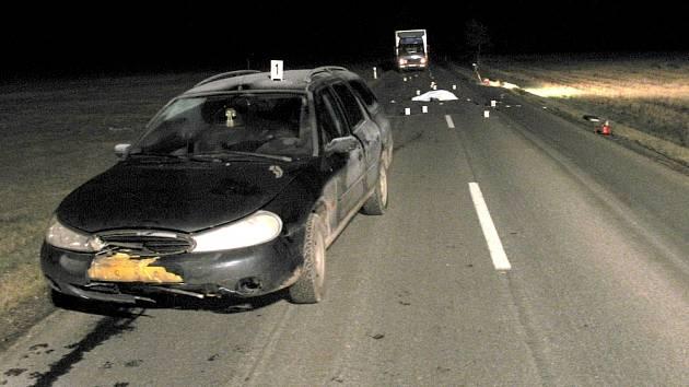 Místo tragické nehody na silnici druhé třídy u Korouhve.