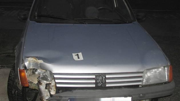 Nehoda Peugeot