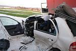 Na silnici I/35 za odbočkou na Opatov došlo k tragické nehodě