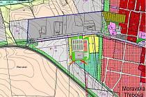 Územní plán města.