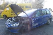 Střet dvou vozidel u obce Sedliště na Litomyšlsku.