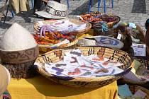Výrobky z ručně zpracovávané ovčí vlny Hany Malikovičové z Vrážného.
