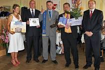 Vyhlášení výsledků soutěže Vesnice roku 2010 v Pardubickém kraji se konalo ve Střemošici. Ocenění pro Biskupice.