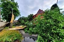 Bouře za sebou zanechala spoušť i ve Svitavách.