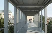 Moderní nadchod bude mít výtah.