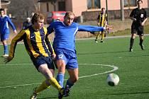 Vedoucí tým divize byl nakonec nad síly Svitav (v pruhovaném), ale ty s ním sehrály po většinu času vcelku solidní partii.