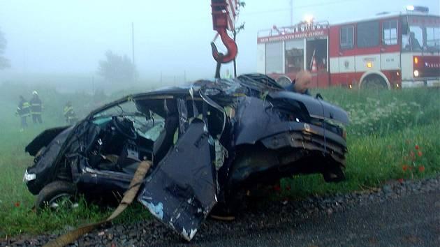 Havárie s těžkým zraněním v Jevíčku.
