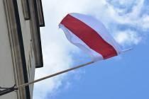Vlajka Běloruska v Litomyšli