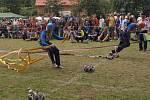 Okresní soutěž v požárním sportu v Sádku u Poličky.