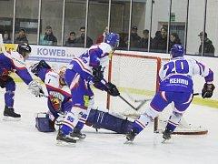 Z převahy, kterou si udržovali prakticky po celé utkání, vytěžili moravskotřebovští hokejisté sedm gólových zásahů.