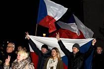 Oslavy 17. listopadu v Litomyšli.