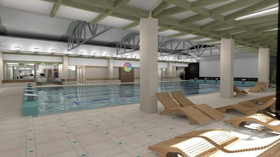 SVITAVY už roky usilují o nový krytý plavecký bazén. Vizualizace už město má, na stavbu ale stále čeká. Zdroj: město Svitavy