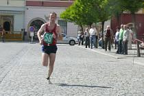 V cílové rovince už vítězný Lukáš Razým nebyl nikým z běžců ohrožován.