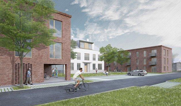 Vítězný návrh na přestavbu dětského domova vPoličce na byty.