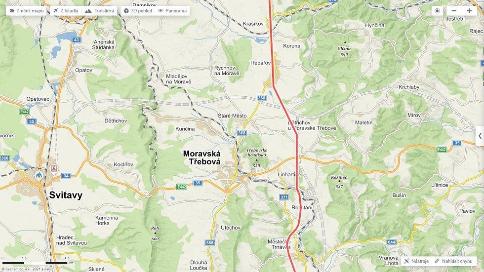 Trasa Hitlerovy dálnice na Svitavsku