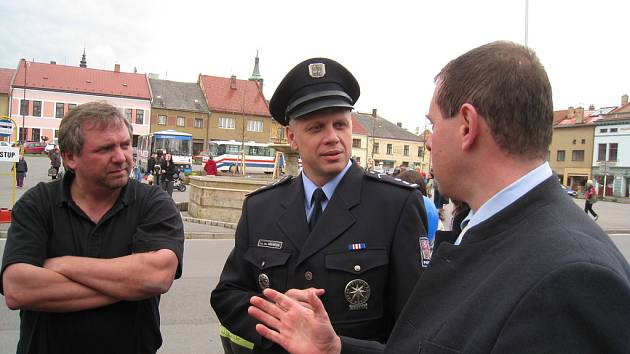 Policie v Jevíčku.