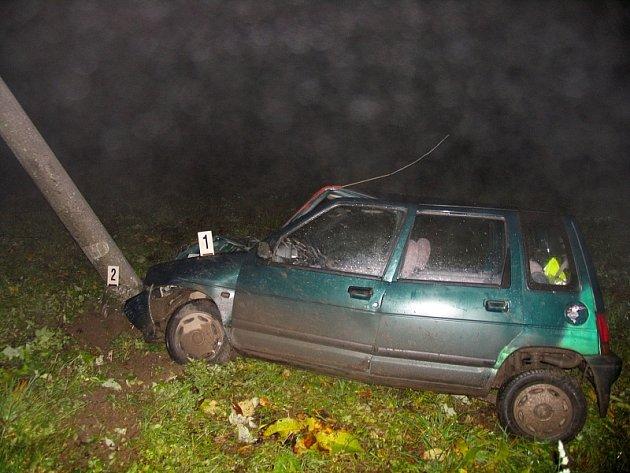 S alkoholem v krvi řidič jízdu nezvládl.