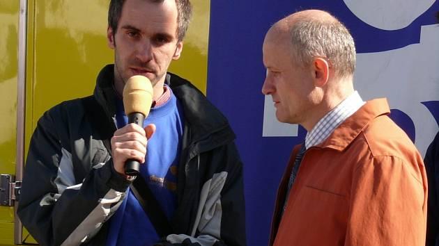Diskuze se starostou Moravské Třebové Josefem Ošťádalem.