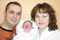 ELIŠKA KOPEČNÁ. Malá slečna přišla na  svět 16. ledna ve 12.06 hodin ve svitavské porodnici.  Vážila 3,39 kilogramu a měřila půl metru. Tatínek Petr byl mamince Zuzaně při  porodu oporou. Šťastní rodiče si svojí dcerku odvezou do Jevíčka.
