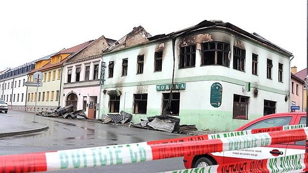 eed21984b Rok po požáru Moravy začne stavba hotelu - Svitavský deník