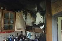 Požár vznikl od hrnce s tukem.