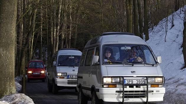 Majitelé vozidel Subaru Libero se sešli na Svojanově.
