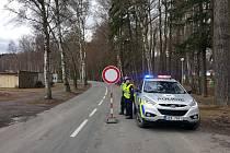 Uzavírka silnice z Poličky na Jimramov