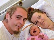 SABINA ODEHNALOVÁ. Narodila se 27. září Ivaně Šabacké a Jakubu Odehnalovi z Moravské Třebové. Měřila 50 centimetrů a vážila 3,5 kilogramu.