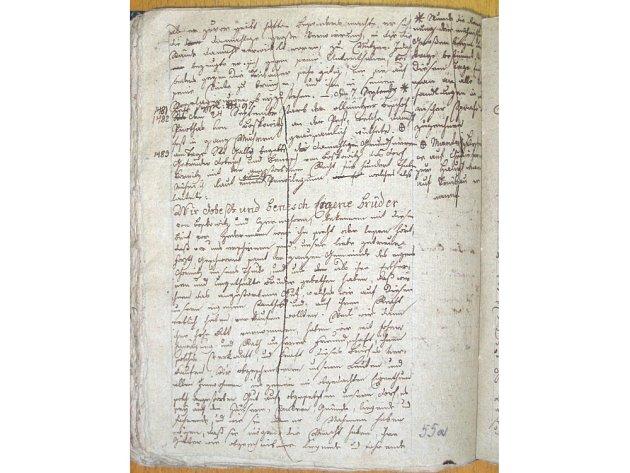 Neznámá listina pro Chornice na Moravskotřebovsku je z roku 1483 a byla objevená v rukopisných poznámkách J. E. Horkyho.