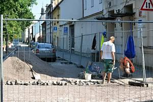 Opravy ulice Vodní valy.