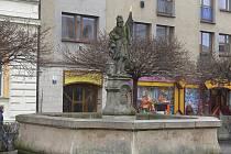 Kašna na svitavském náměstí.