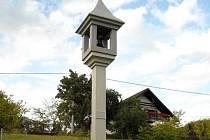 Železobetonová zvonice v Pazuše u Litomyšle