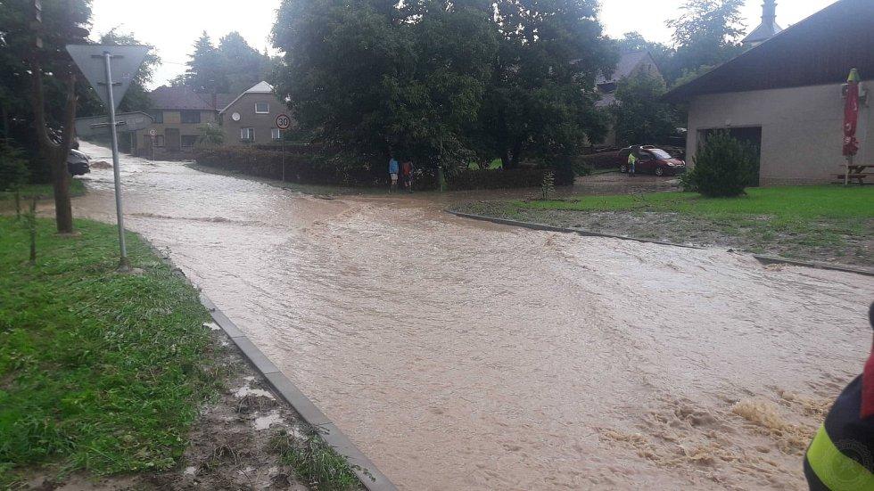 Blesková povodeň v Němčicích