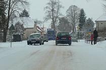 Sněhová nadílka na Svitavsku.