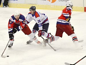Z utkání HC Litomyšl vs. BK Havlíčkův Brod B (4:1).
